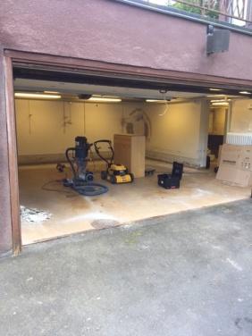 Garage med fuktproblem